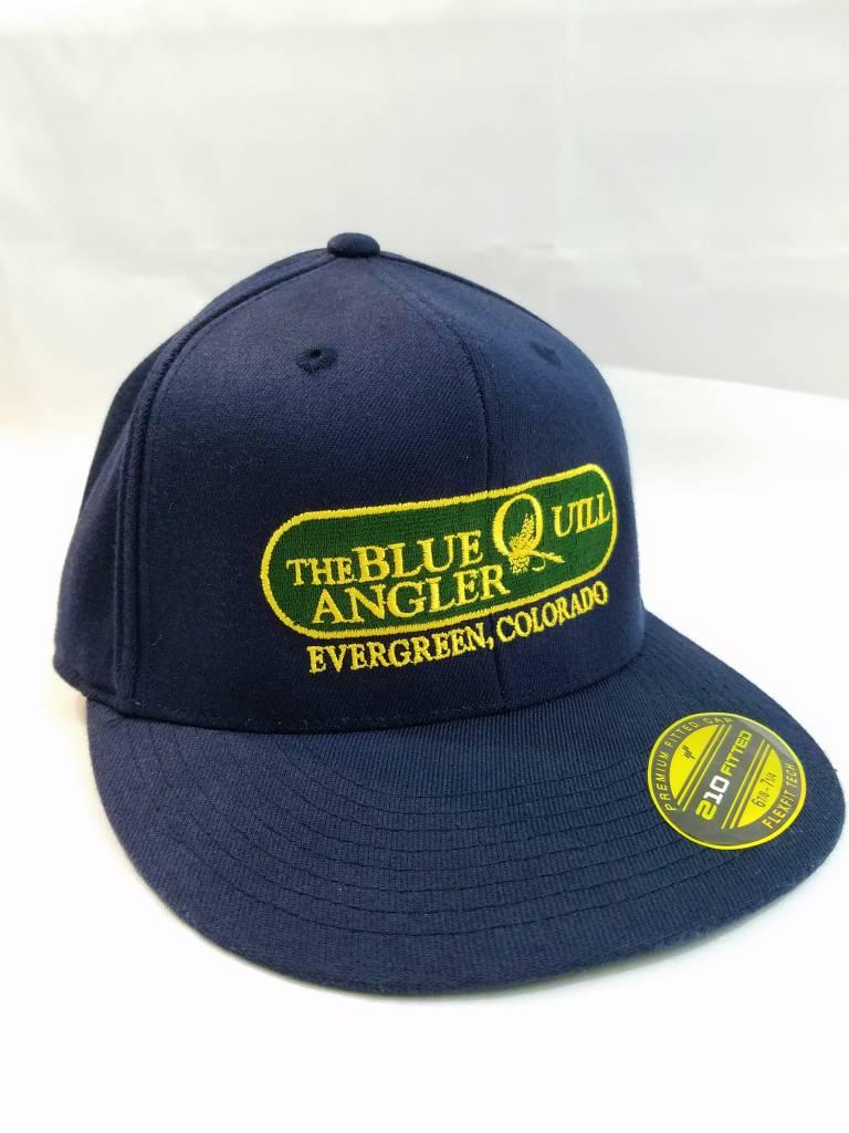 BLUE QUILL ANGLER BQA LOGO FLEXFIT 210 FLAT BILL CAP
