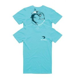 SIMMS SIMMS BOW TO THE KING T-SHIRT - AQUA - ON SALE 35% OFF!