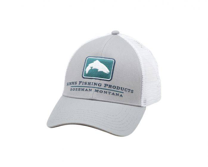 SIMMS SIMMS SMALL FIT TROUT ICON TRUCKER - GRANITE