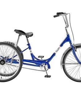 SUN BICYCLES TRIKE SUN ADULT P-BU 24 ALY WHLW/WHITE BASKET* (F)