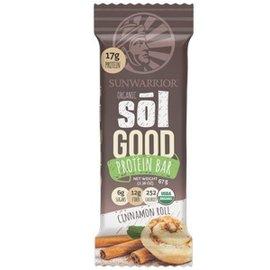 SunWarrior Sol Good Organic Protein Bar Cinnamon Roll