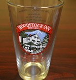 Woodstock Inn Brewery Pint Glass Woodstock Inn Logo