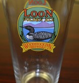 Loon Golden Ale Pint Glass