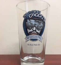Frosty Goggle Pint Glass