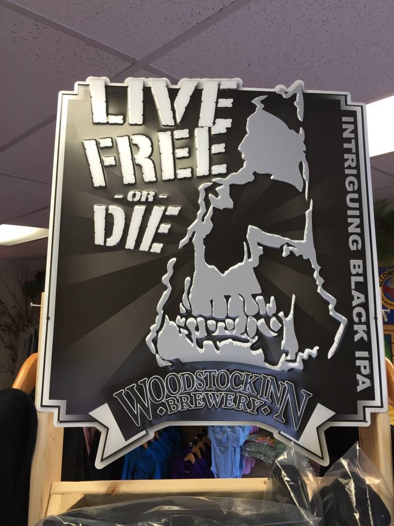 Live free or Die Tin Sign