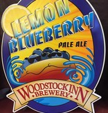 Lemon blueberry tin sign