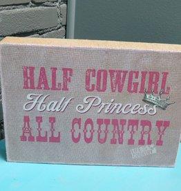 Decor Cowgirl, Princess Wall Art