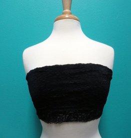 Lingerie Lace Bandeau, Black