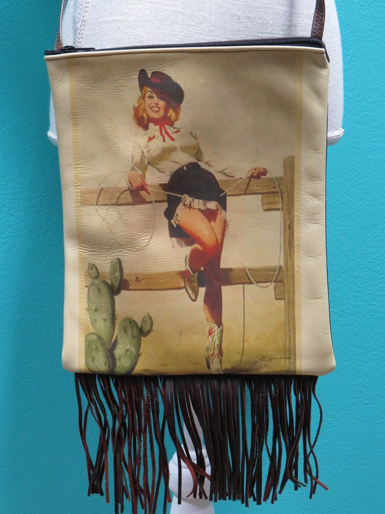 Bag IPad Bag w/ Fringe-Standing Rope