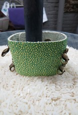 Jewelry Lime Green Wide Leather Cuff
