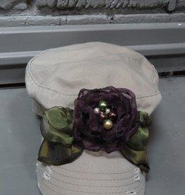 Hat JA Cadet w/ Purple Flower