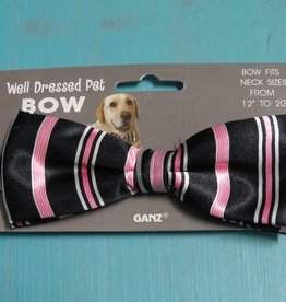 Dog Pink/Black Dog Bow Tie