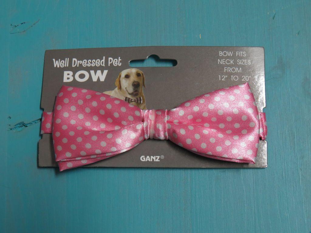 Dog Pink Polka Dog Bow Tie