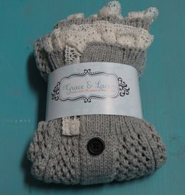 Socks Nellie Knit Lace Legwarmers