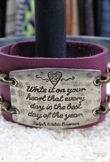 Jewelry Write It On Your Heart Sentiment