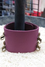 Jewelry Orchid Wide Leather Cuff