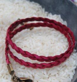 Jewelry Raspberry Braided Wrap