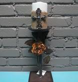 Decor Lg Metal Candle Pillar