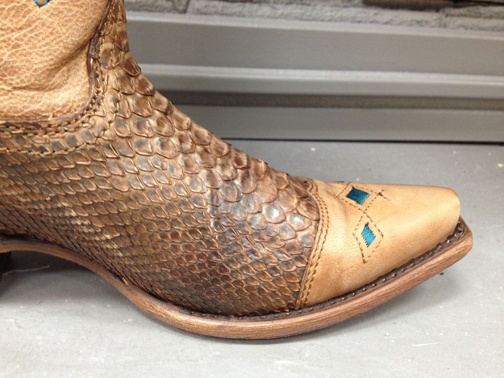 Boot Python and Blue Jute Patterned Boots