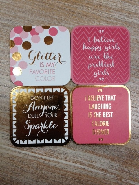 Kitchen Graphic Coasters set of 8