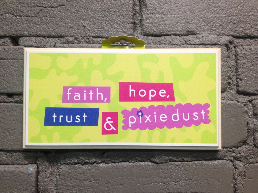 Decor Faith, Hope, Trust Sign
