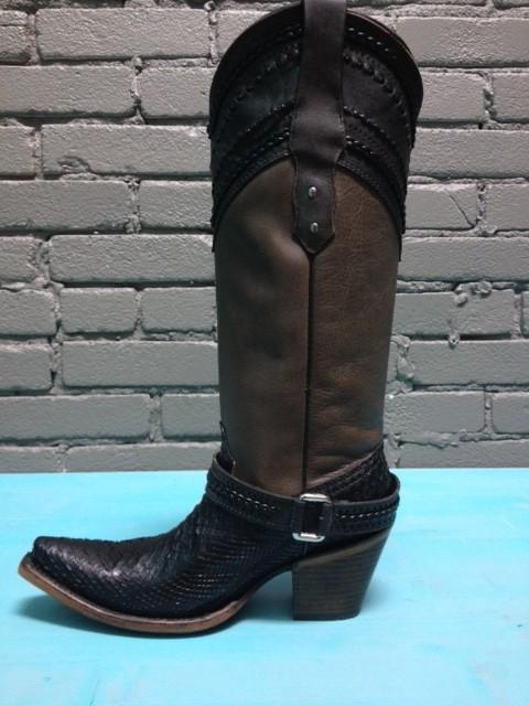 Boot Taupe/Black Python Boot