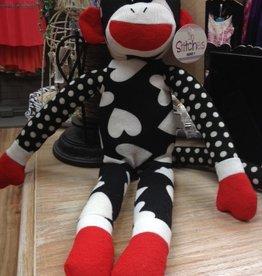 Kid's White Sock Monkey
