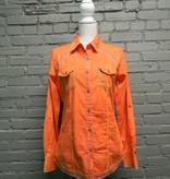 ButtonDown Orange Embroid Button Up