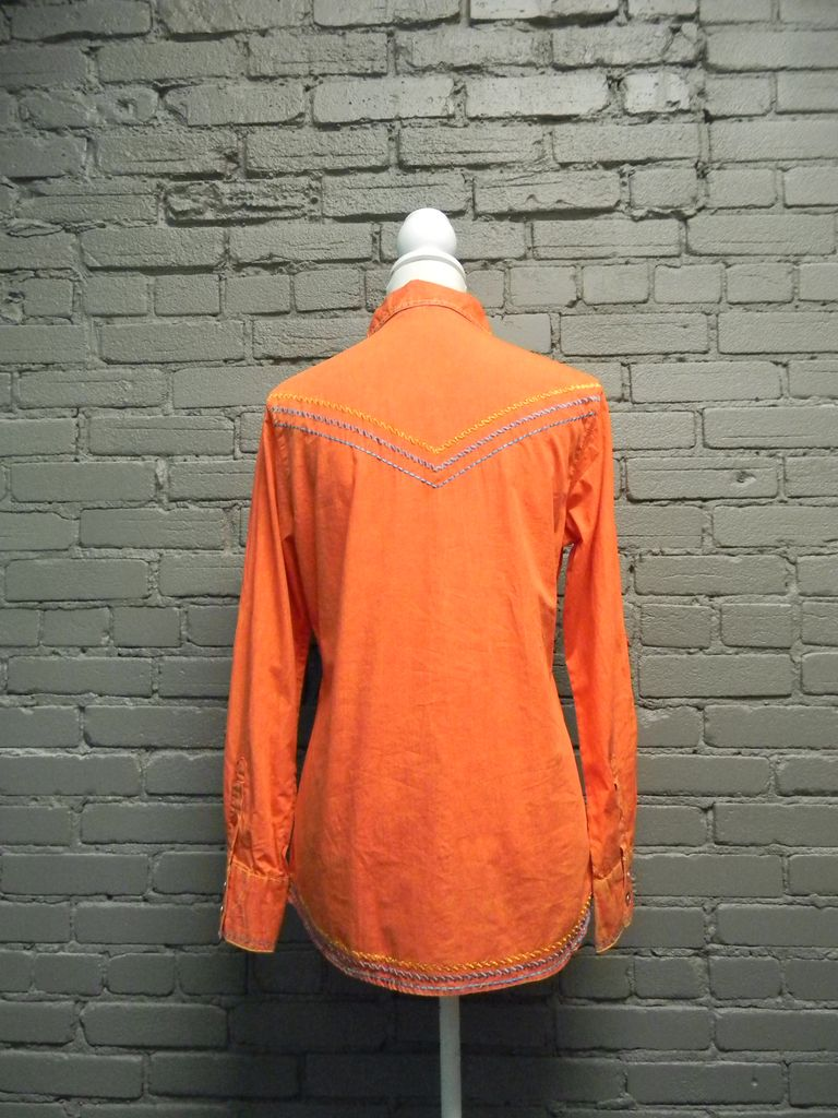 ButtonDown Orange Embroid Button Up