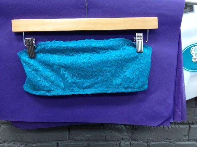 Accessory Lace Bandeau, Turq