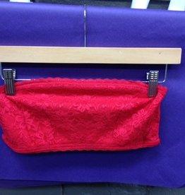 Lingerie Lace Bandeau, Red