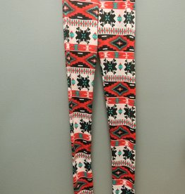 Leggings Red Tribal Leggings