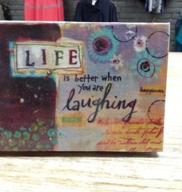 "Decor 5"" Small Canvas Sign"