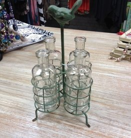Decor Metal Holder Glass Vases