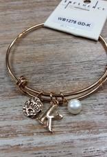 Jewelry Initial Gold Charm Bracelet