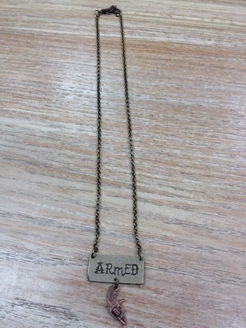 Jewelry Armed Necklace w/ Pistol