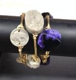 Jewelry Stackable Lrg Stone Bangle