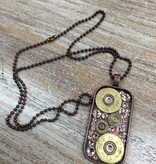 Jewelry Bullets- Pink Dog Tag Necklace