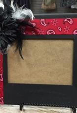 Decor Blk/Red Bandana Frame