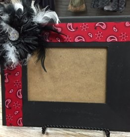 Decor Blk/Red Bandana Frame