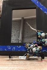 Decor Blk/Blue Bandana Mirror