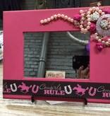 Decor Pink Cowgirls Rule Mirror