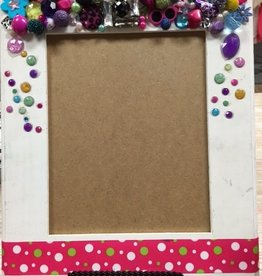 Decor White Polka Dot Frame
