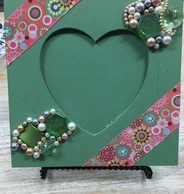 Decor Green Heart Frame