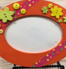 Decor Orange Oval Frame