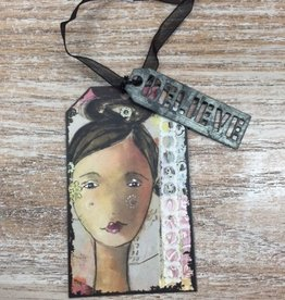 Ornament Believe Tag