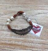 Accessory Johnny Loves June Ornate Plate Bracelet