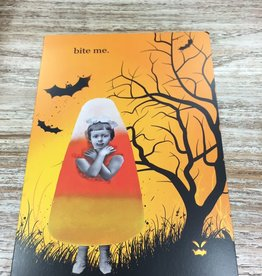 Card Bite Me Halloween