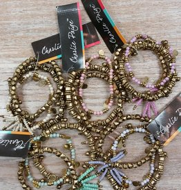 Jewelry Assorted Gold & Color Bead Bracelets