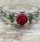 Jewelry Rose Floral Cuff